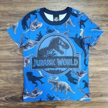 Camiseta Azul Jurassic World Infantil