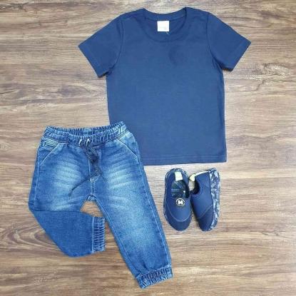 Camiseta Azul Marinho com Calça Jogger Infantil