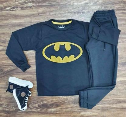 Camiseta Batman Manga Longa com Calça Infantil