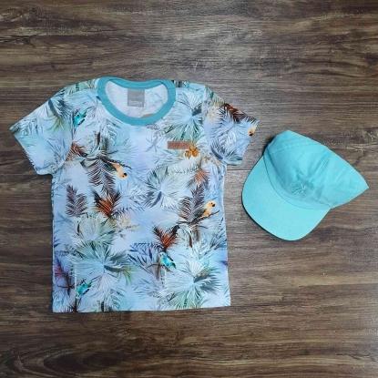 Camiseta Birds com Boné Infantil