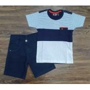 Camiseta Bolso com Bermuda Infantil