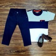 Camiseta Bolso com Calça Infantil