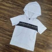 Camiseta Branca com Capuz Infantil