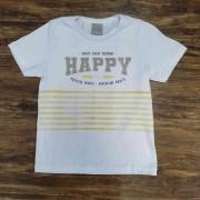 Camiseta Branca Happy Infantil