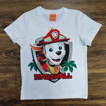 Camiseta Branca Marshall Infantil
