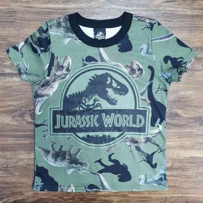 Camiseta Camuflada Jurassic World Infantil