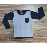 Camiseta Cinza Manga Longa Infantil
