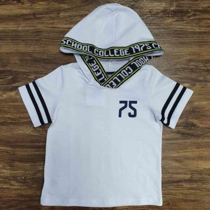 Camiseta College com Capuz Infantil