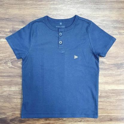 Camiseta de Botão Azul Marinho Infantil