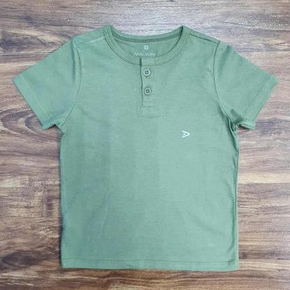 Camiseta de Botão Verde Infantil