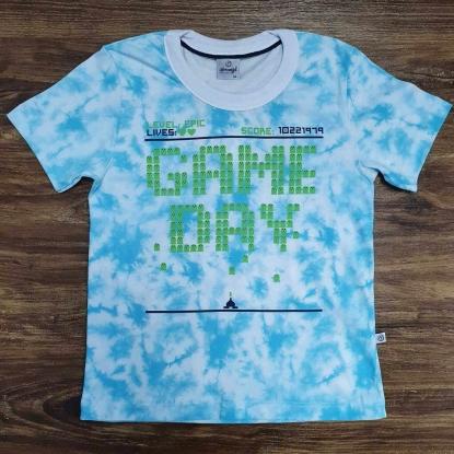 Camiseta Game Day Azul Infantil