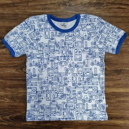 Camiseta Game Start Azul Infantil