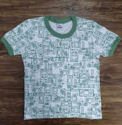 Camiseta Game Start Verde Infantil