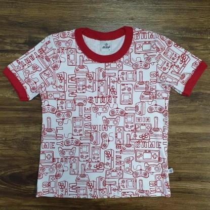 Camiseta Game Start Vermelha Infantil
