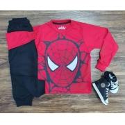 Camiseta Homem Aranha com Calça Moletom Infantil