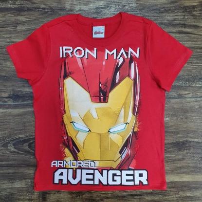 Camiseta Homem de Ferro Vermelha Infantil