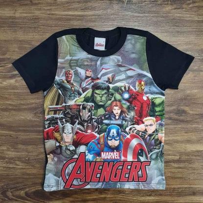Camiseta Infantil Avengers
