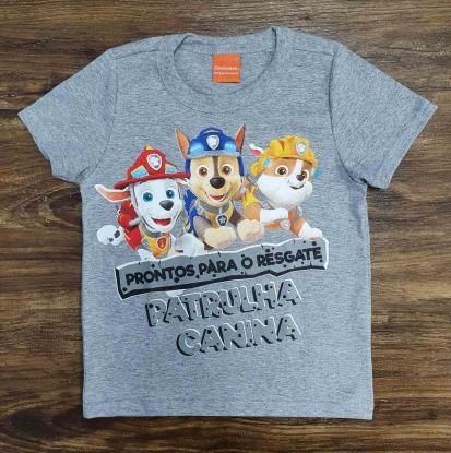 Camiseta Infantil Cinza Patrulha Canina