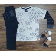 Camiseta Manga Longa com Calça Jeans Infantil