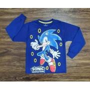 Camiseta Manga Longa Sonic Infantil