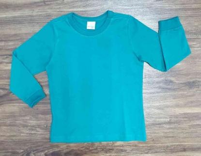 Camiseta Manga Longa Verde Infantil
