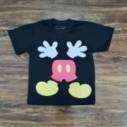 Camiseta Preta Mickey Infantil