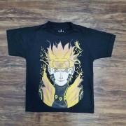 Camiseta Preta Naruto Infantil
