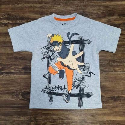Camiseta Cinza Naruto Infantil