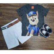 Camiseta Patrulha Canina com Bermuda Infantil