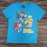 Camiseta Azul Action Patrulha Canina Infantil
