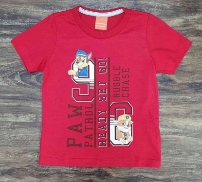 Camiseta Vermelha Ready Patrulha Canina Infantil
