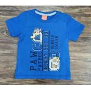 Camiseta Azul Ready Patrulha Canina Infantil