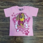 Camiseta Rosa Skye Patrulha Canina Infantil