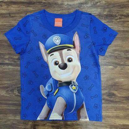 Camiseta Azul Chase Patrulha Canina Infantil