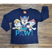 Camiseta Longa Azul Team Patrulha Canina Infantil