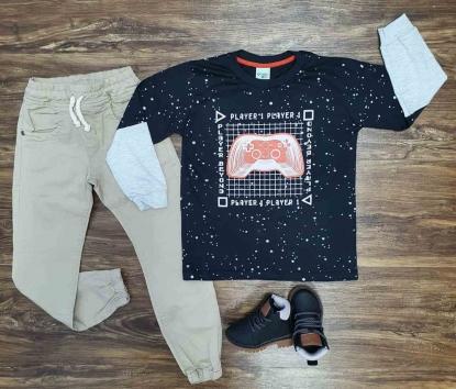 Camiseta Player com Calça Infantil