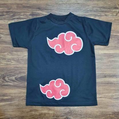 Camiseta Preta Naruto Akatsuki Infantil