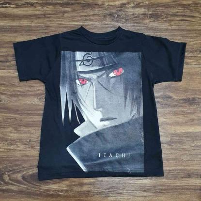 Camiseta Preta Naruto Itachi Infantil
