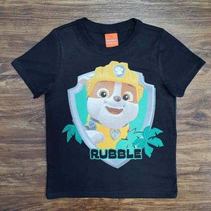 Camiseta Preta Rubble Infantil