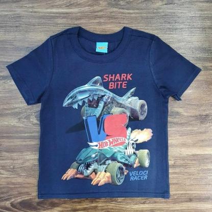 Camiseta Shake Bite Azul Marinho Infantil