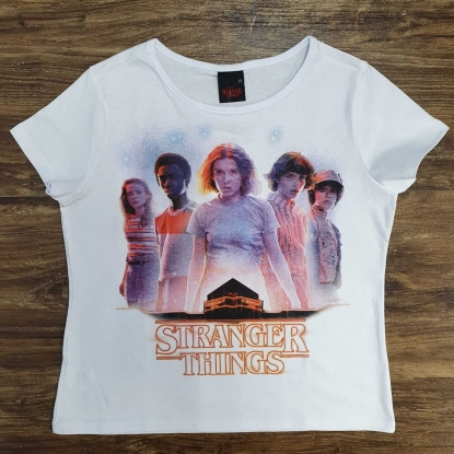 Camiseta Stranger Things Branca