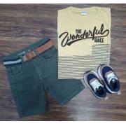 Camiseta Wonderful com Bermuda Infantil
