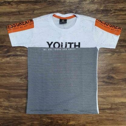 Camiseta Youth Branca e Cinza Infantil