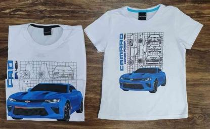 Camiseta Branca Camaro Pai e Filho (a)