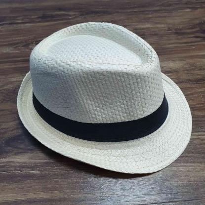 Chapéu Panamá Bege Claro Infantil