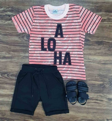 Conjunto aloha Listrado Infantil
