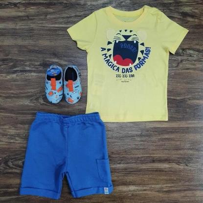 Conjunto Amarelo e Azul Roar A Magica das Formas Infantil