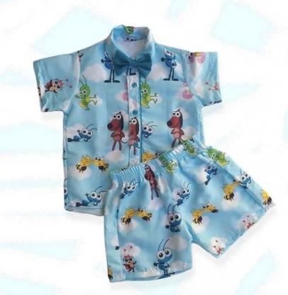 Conjunto Azul Bob Zoom Infantil