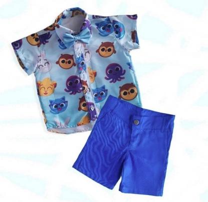Conjunto Azul Bolofofos Infantil