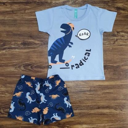 Conjunto Azul Roar Dino Radical Infantil